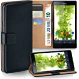 OneFlow PREMIUM - Book-style case in a wallet design with stand function - for Sony Xperia Z (L36H) - DEEP-BLACK