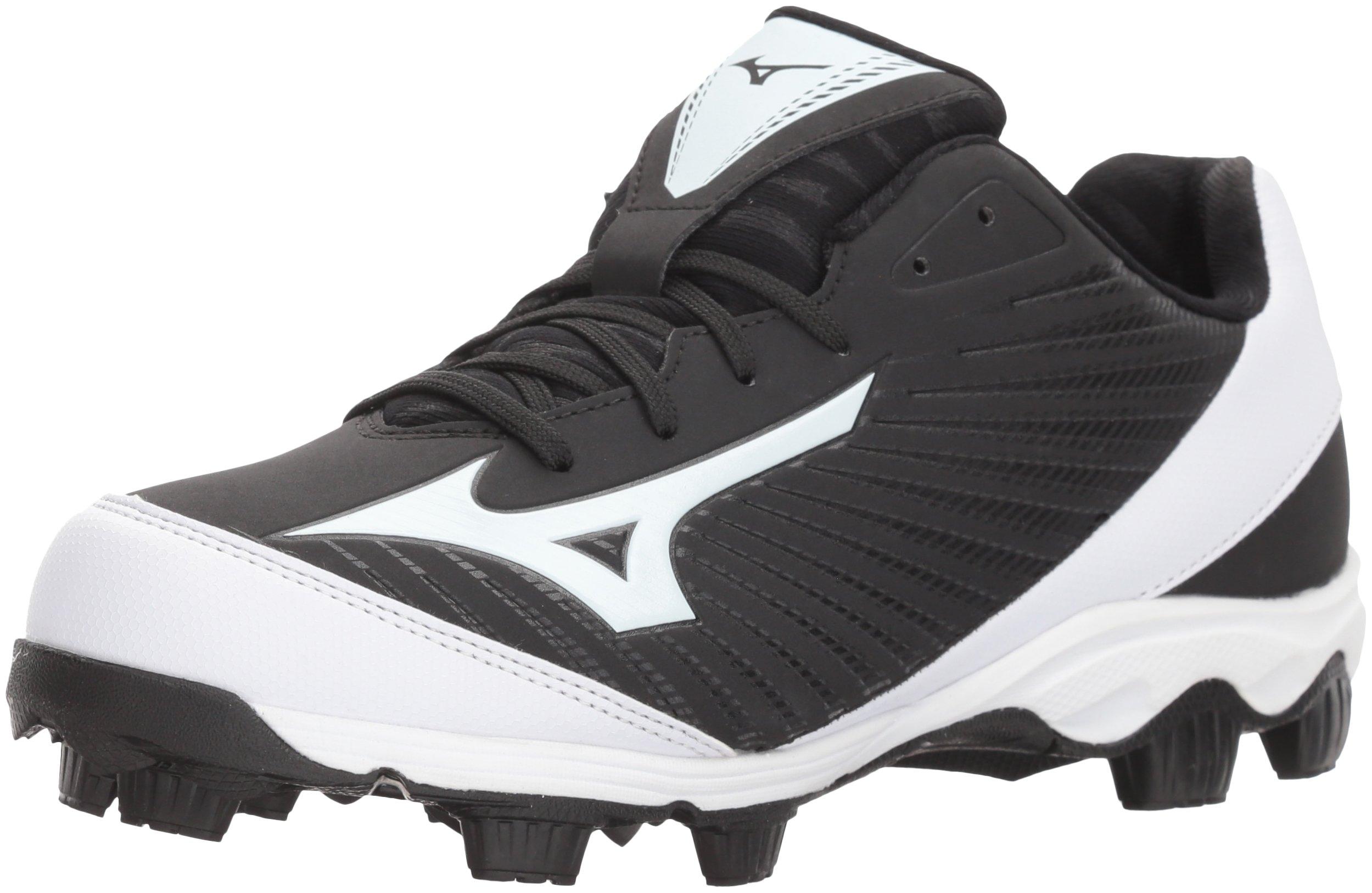 Mizuno (MIZD9)) Women's 9-Spike Advanced Finch Franchise 7 Fastpitch Cleat Softball Shoe, Black/White, 7 B US