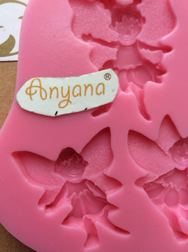 Amazon.com: Anyana Angel Girl & Angel Boy Candy Silicone Mold for Sugarcraft, Cake Decoration, Cupcake Topper, Fondant, Jewelry, Polymer Clay, ...