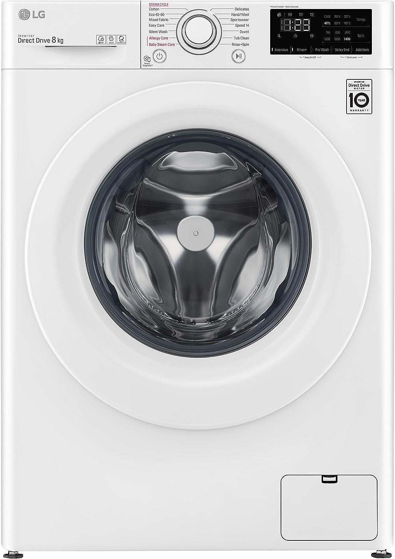 LG F4WV3008S3W - Lavadora inteligente (8kg, 1400 A+++(-40%), serie 300), color blanco