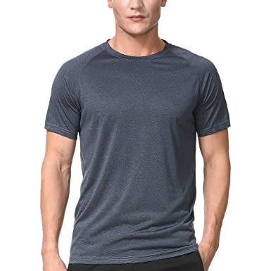 35d9e65b Men's Dry Fit Athletic T-Shirts, Short Sleeve Crew Neck Workout Tees, Black
