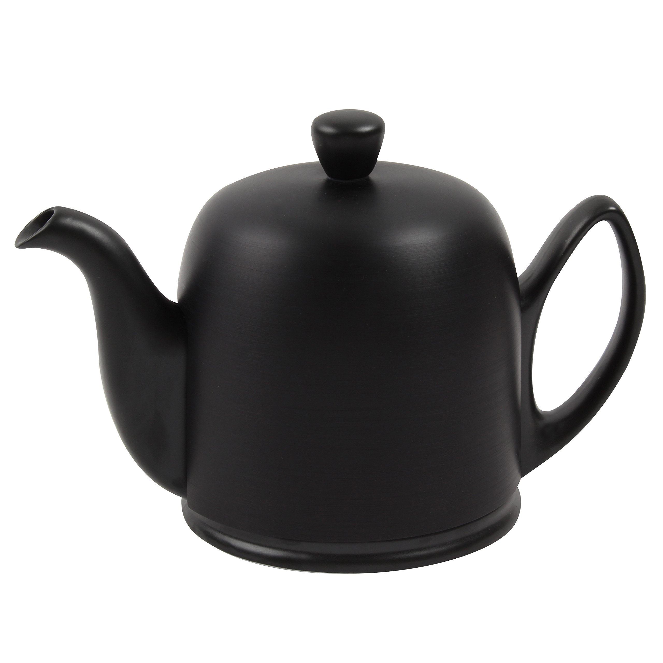DEGRENNE -  SALAM COLOR Tea Pot Black, Aluminium lid, 6 Cups , 33 oz 13/16