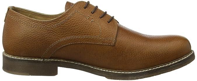Red Tape Marlow Zapatos de Cordones Derby para Hombre, Marrón (Milled Honey), 43 EU