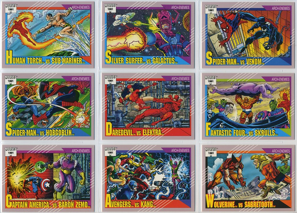 1991 Impel Marvel Universe Series-II 162-Card New Complete Base Set in Collector Pages