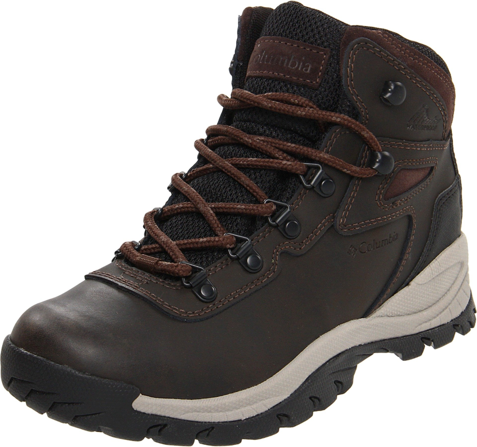 Columbia Women's Newton Ridge Plus-Wide Hiking Boot,Cordovan/Crown Jewel,6 W US