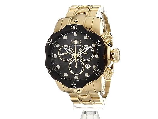 Amazon.com: Invicta Mens Venom Quartz Watch with Stainless-Steel Strap, Gold, 26 (Model: 23892): Watches