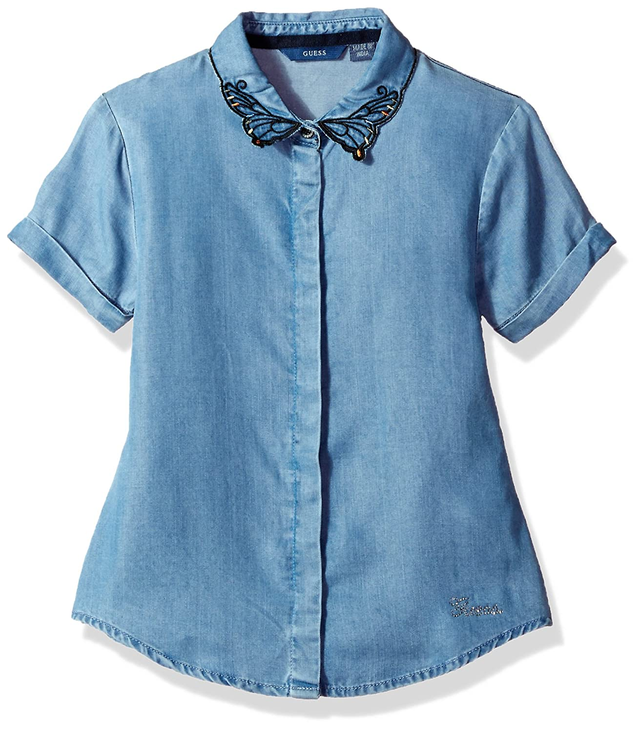 Guess T-Shirt Bambina Guess J81H06D2M00 Blu (Medium Tencel Wash) 158 (Taglia Produttore:14)