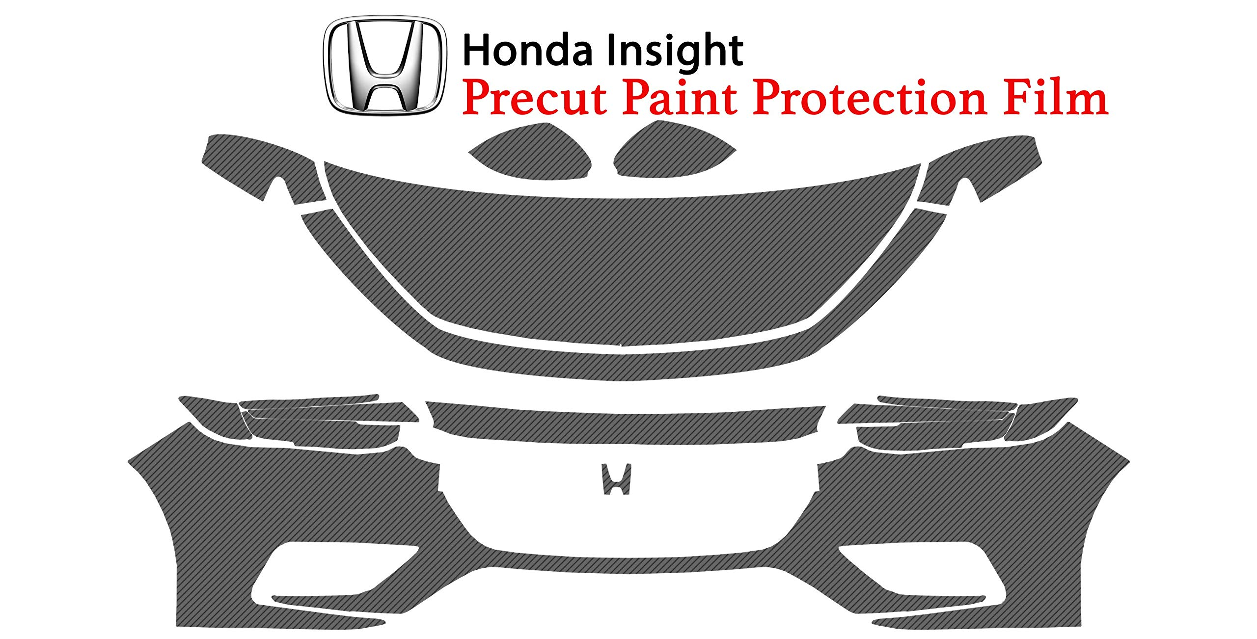 The Online Liquidator Full Front Protective Film fits Honda Insight 2019 - Clear Bra Professional Car Paint Shield Cover