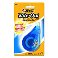 Bic Wite Out Correction Tape, 1 Tape