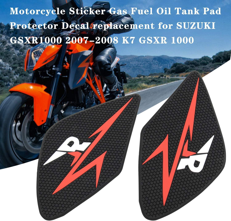 Sostituzione della Decalcomania del protettore del Serbatoio dellolio del Gas per Autoadesivo del Motociclo per Suzuki GSXR1000 2007-2008 K7 GSXR 1000