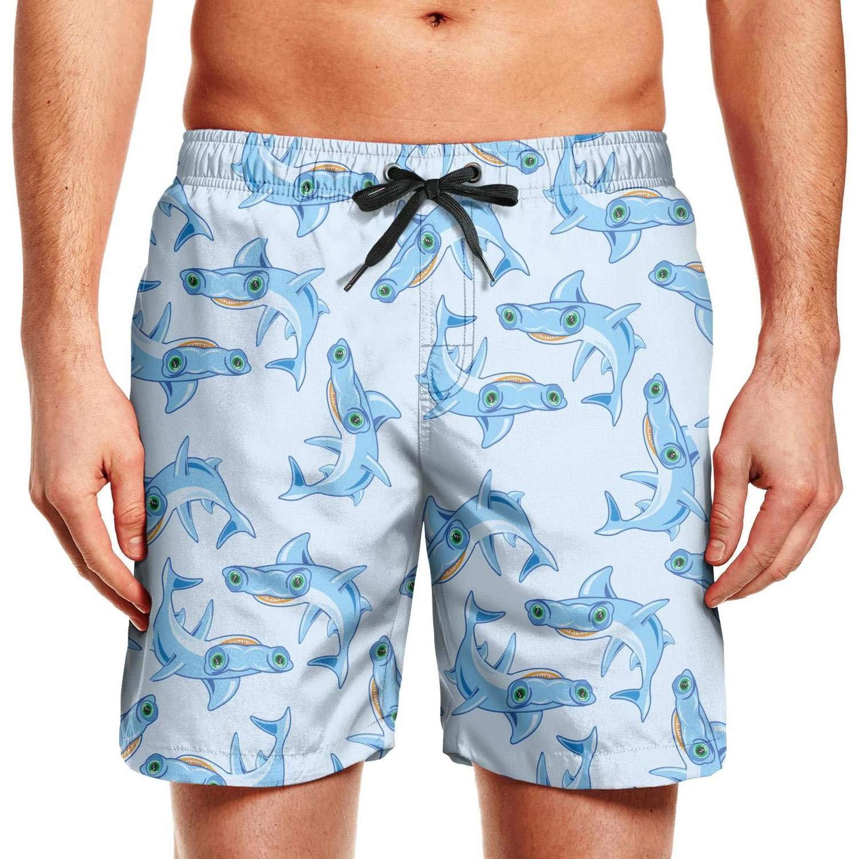 Mens Quick Dry Swim Trunks Beach Board Short Fat Cats Cute Surfing Shorts