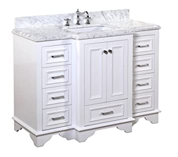 Kitchen Bath Collection KBC1248WTCARR Nantucket Bathroom Vanity