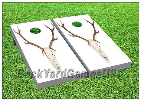 Remarkable Amazon Com Cornhole Boards Beanbag Toss Game W Bags Bone Evergreenethics Interior Chair Design Evergreenethicsorg