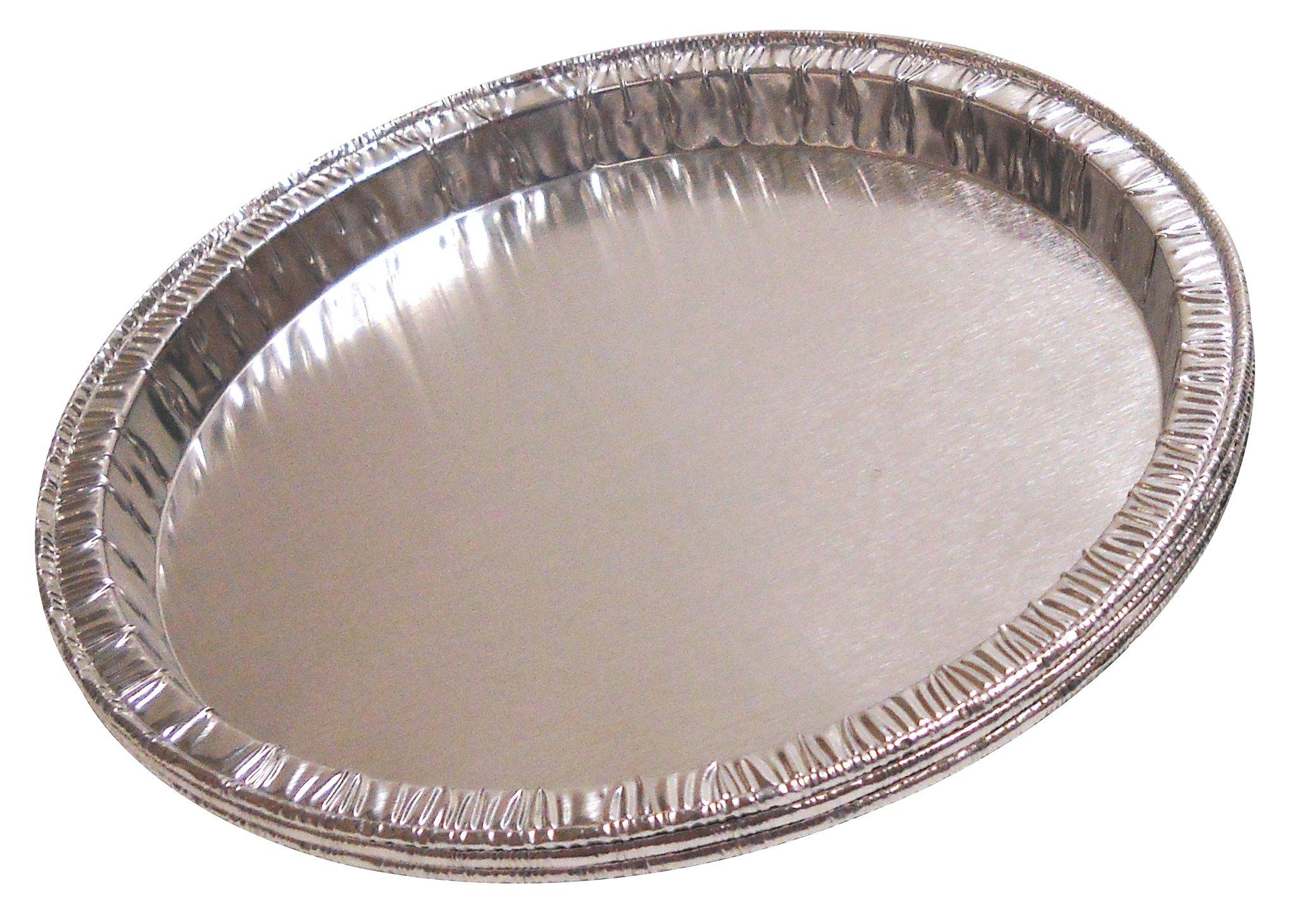 Qorpak 234795 Disposable Aluminum Moisture Balance Pan, 5'' Diameter x 3/8'' Depth (Case of 1000)