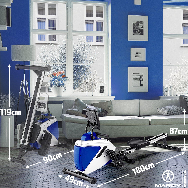 noir//blanc//bleu taille unique Rameur magn/étique Marcy Azure mixte pliable avec support pour t/él/éphone//tablette