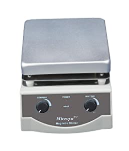 Microyn SH-3 Analog Laboratory Magnetic Stirrer Hot Plate, 17cm x 17cm Panel, 500W, 100-1600rpm, 3L Capacity, One Year Warranty