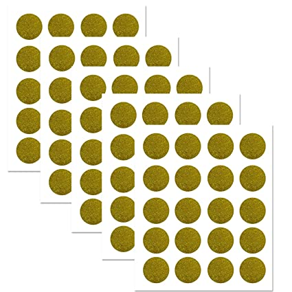 Amazon.com: PARLAIM Sparkly Gold Polka Dots Wall Decals Circles ...
