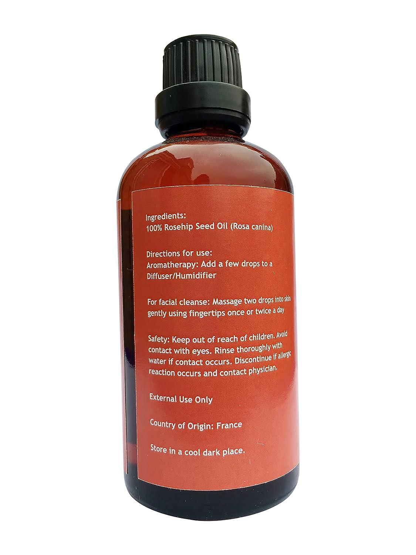 Lana Pura 100% Pure & Natural Aceite de Escaramujo aceite esencial de primera calidad - Petaca con cuentagotas Natural Antienvejecimiento pigmentación ...