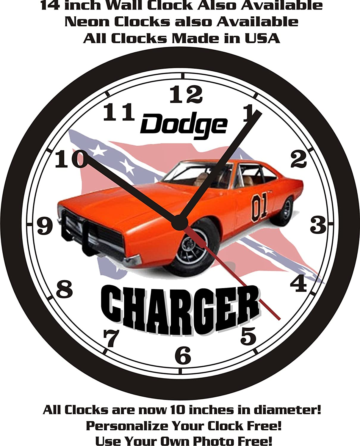 Amazon 1969 dodge charger general lee wall clock free usa amazon 1969 dodge charger general lee wall clock free usa ship dukes of hazard home kitchen amipublicfo Gallery