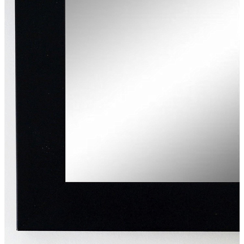 Online Galerie Bingold Wandspiegel Spiegel Badspiegel - Wolfsburg 3,0 - Schwarz - 40 x 60 - Außenmaß inkl. Massivholz-Rahmen - Viele Größen verfügbar - Modern, Barock, Antik, Vintage, Landhaus