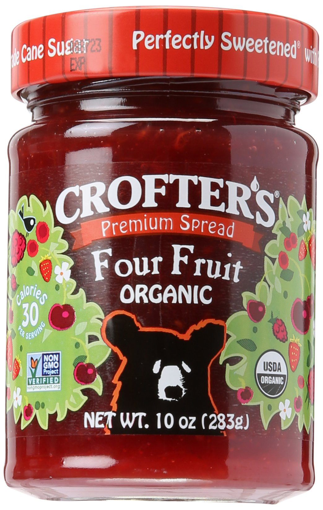 Crofters Fruit Spread, Organic, Premium, 6 Count