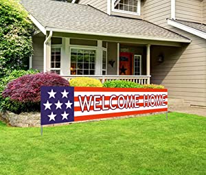 Silvima Welcome Home Banner | Deployment Returning Back Military Army Large Party Decorations