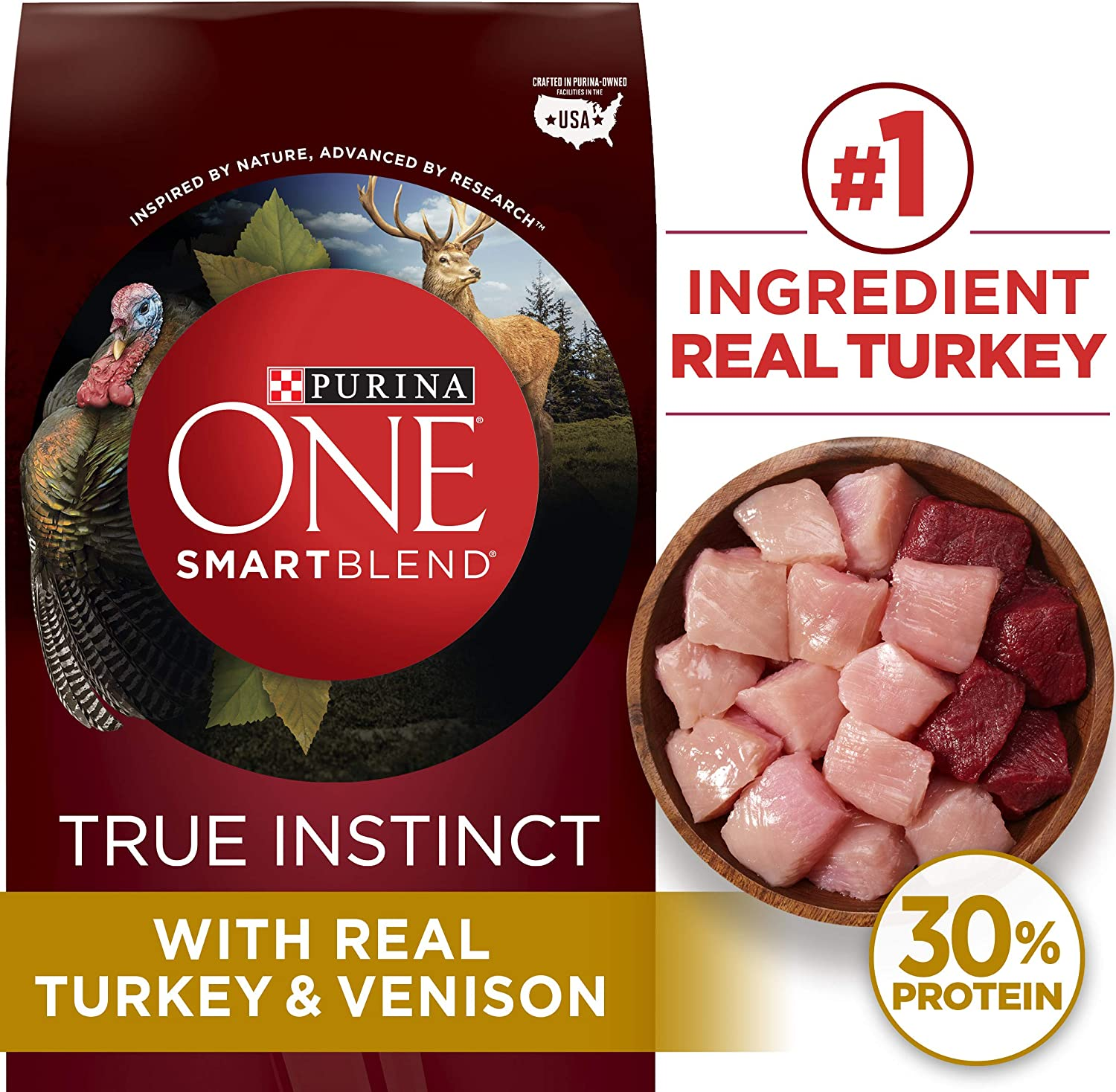 Purina ONE SmartBlend True Instinct Natural Adult Dry Dog Food Dog Treats