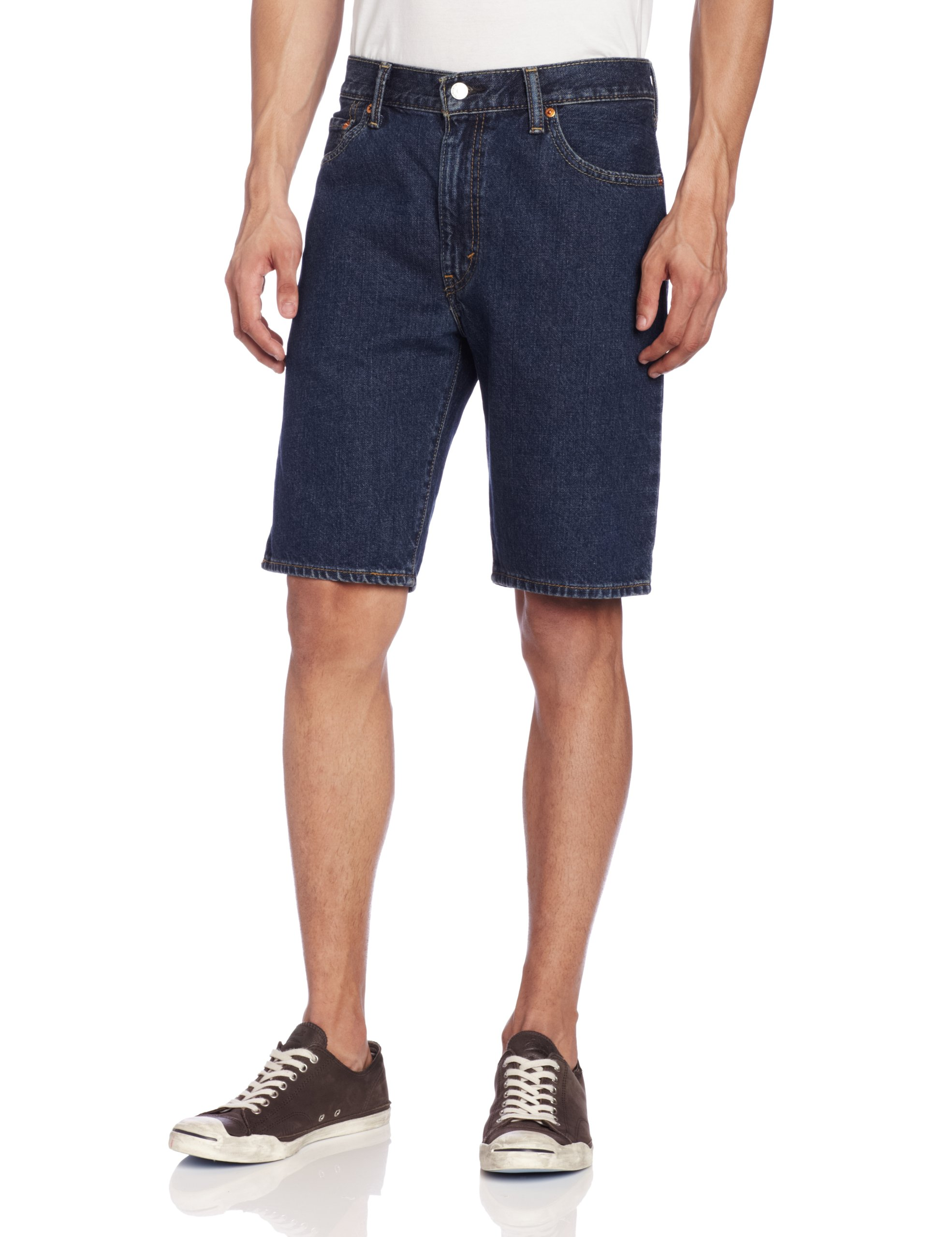 Levi's Men's 505 Regular Fit Short, Dark Stonewash, 34
