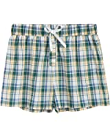 Latuza Women's Cotton Plaid Pajama Boxer Shorts