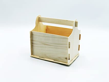 Diy Make Your Own Wood Unfinished Tool Boxes Build And Decorate Color And Paint Yourself Kids Crafts Pack Of 1