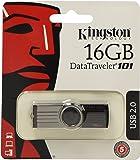 Kingston Data Traveler 101 G2 16 GB USB 2.0 Flash Drive - Black