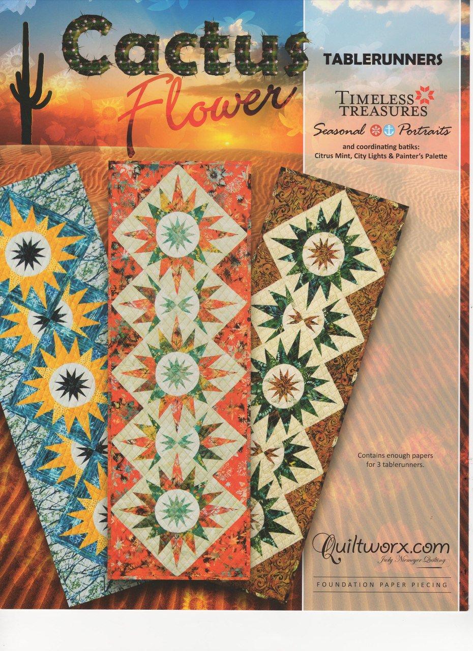 Amazon Judy Niemeyer Cactus Flower Tablerunner Foundation