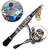 Fishing Rod + Reel Combos , HighSound Fishing Pole Set Saltwater Freshwater Kit(Line & Lure Accessories Box Kit Available)