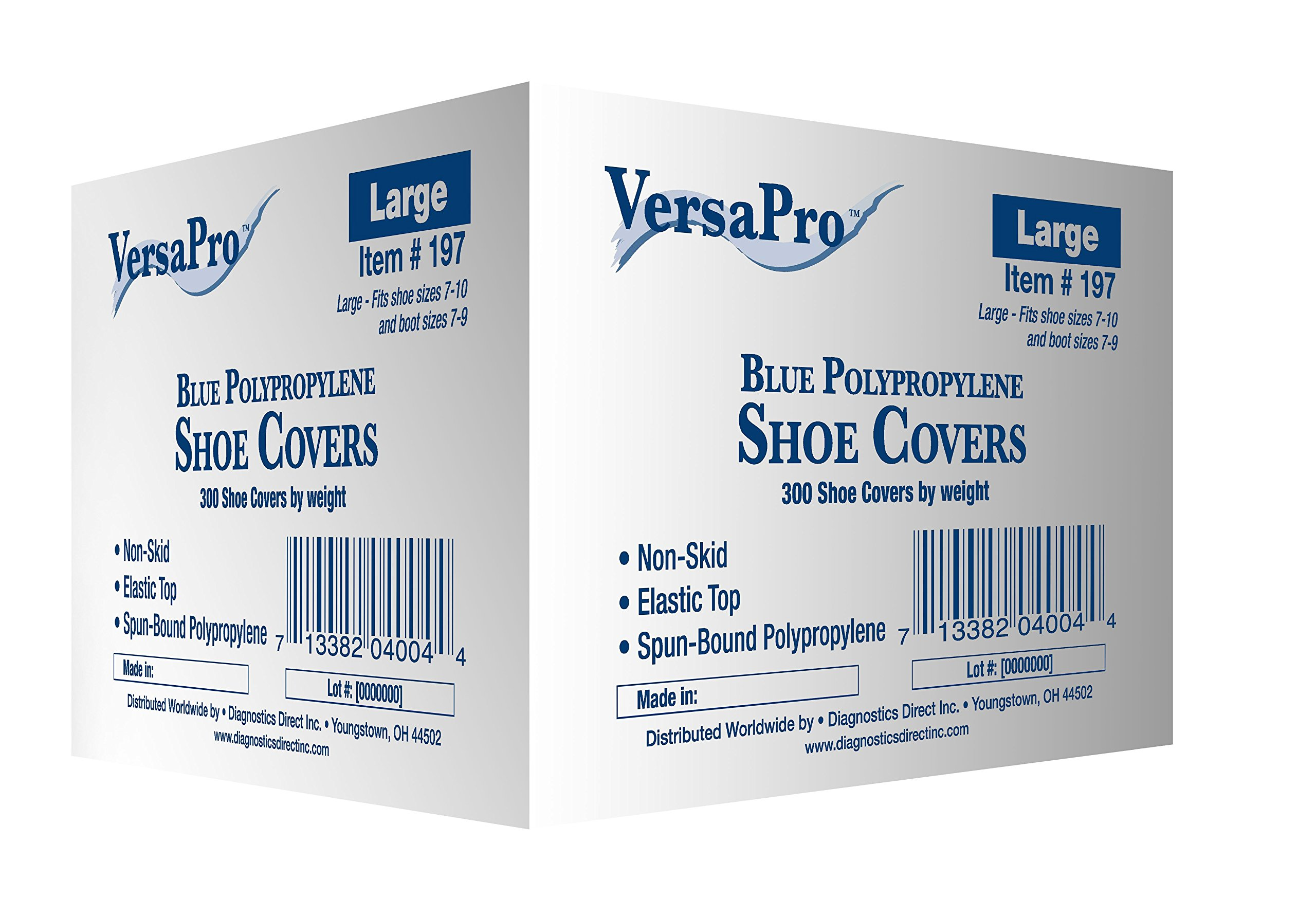Disposable Non-Skid Shoe Covers - Blue (Large, 300/case)