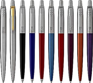 ORIGINAL !! versch. Farben mit Werbung !! 5 Parker Jotter Kugelschreiber