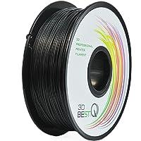 3D BEST-Q Flexible TPU 1.75mm 3D Printer Filament, Dimensional Accuracy +/- 0.03 mm, 1KG Spool, 8 Color to Choose (Black…