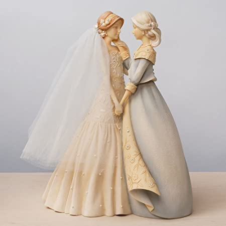 Enesco Gift Foundations Bride Mother Stone Resin Figurine Set, 9.37