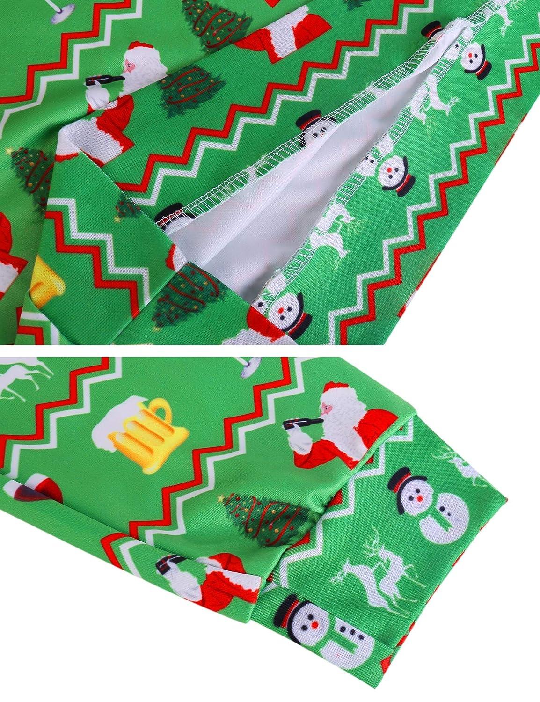 Sykooria Felpe Senza Cappuccio da Uomo Felpa Manica Lunga di Natale Uomo