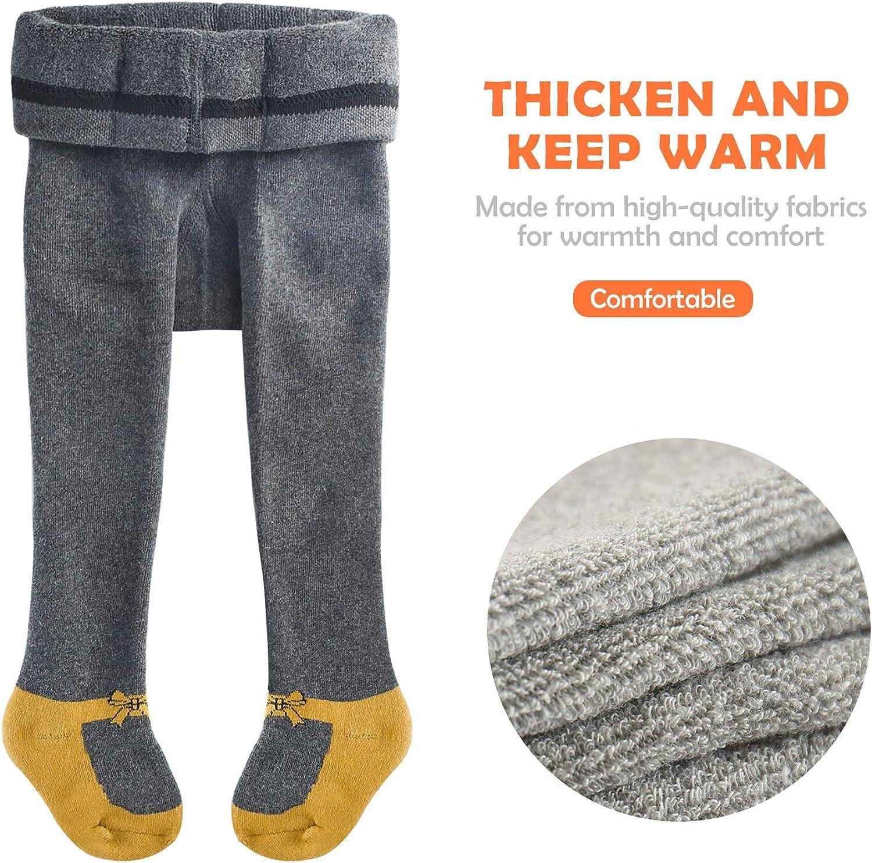 slaixiu Baby Girls Slaixiu Cotton Baby Tights Cable Knit Seamless Toddler Leggings Pants Stockings