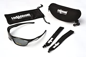 a464927078f Image Unavailable. Image not available for. Colour  Ladgecom Black   Silver  Reflective Mirrored Sports Sun Glasses for Cycling ...