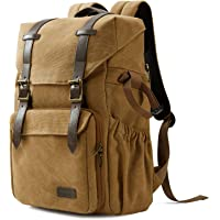 """Camera Backpack, BAGSMART Camera Bag Anti-Theft DSLR SLR Canvas Backpack Fit up to 15"""" Laptop with Rain Cover, Tripod…"""