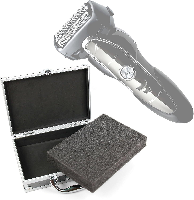 DURAGADGET Maletín/Estuche rígido para maquinilla de Afeitar/Corta Pelo Panasonic ER-GP21, ES-ED50, ES-ED53, ES-ED90, ES-ED93, ES-ED96, ES-EU10 con gomaespuma Personalizable