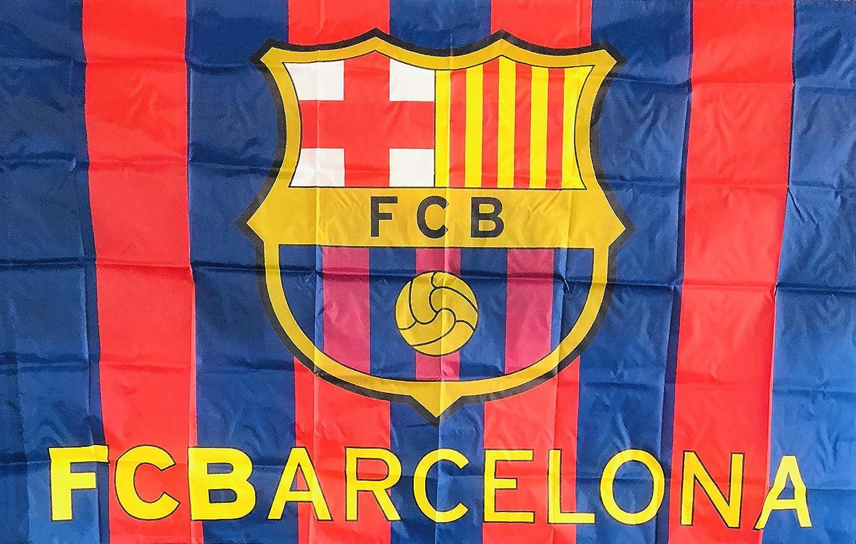 Amazon Com Fc Barcelona Flag Sports Outdoors