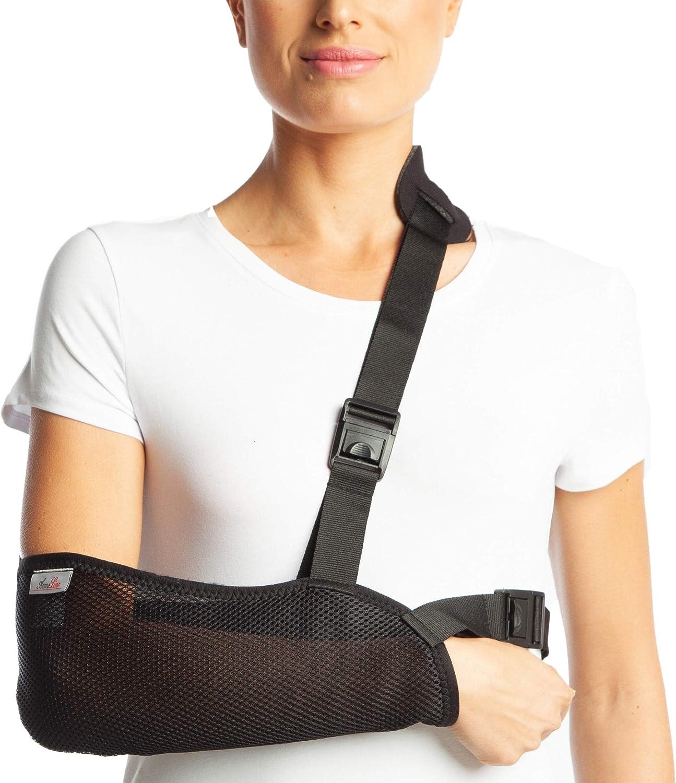 ArmoLine Cabestrillo para brazo - inmovilizador de hombro - inmovilización de brazo posquirúrgica - soporte ortopédico para rehabilitación (XL)