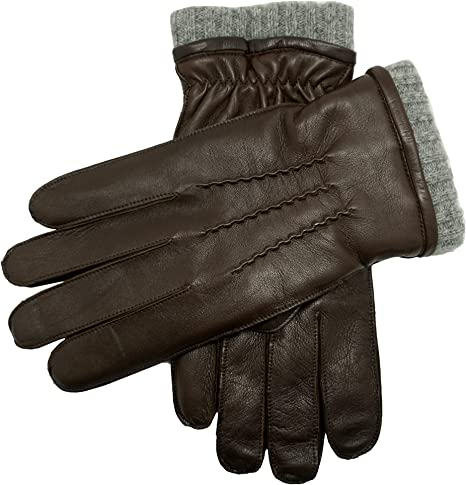 Look!Good Qaulity Mens Winter Drive 100/% Genuine Leather Gloves Cashmere Lined