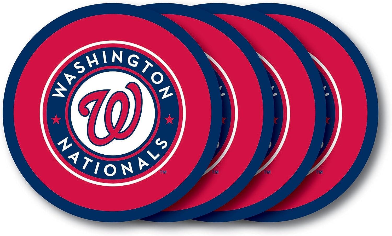 MLB Washington Nationals Vinyl Coaster Set (Pack of 4)