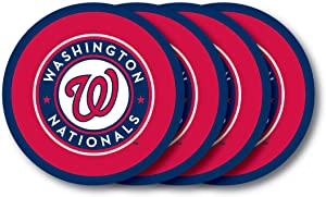 MLB Washington Nationals Vinyl Coaster Set (Pack of 4)