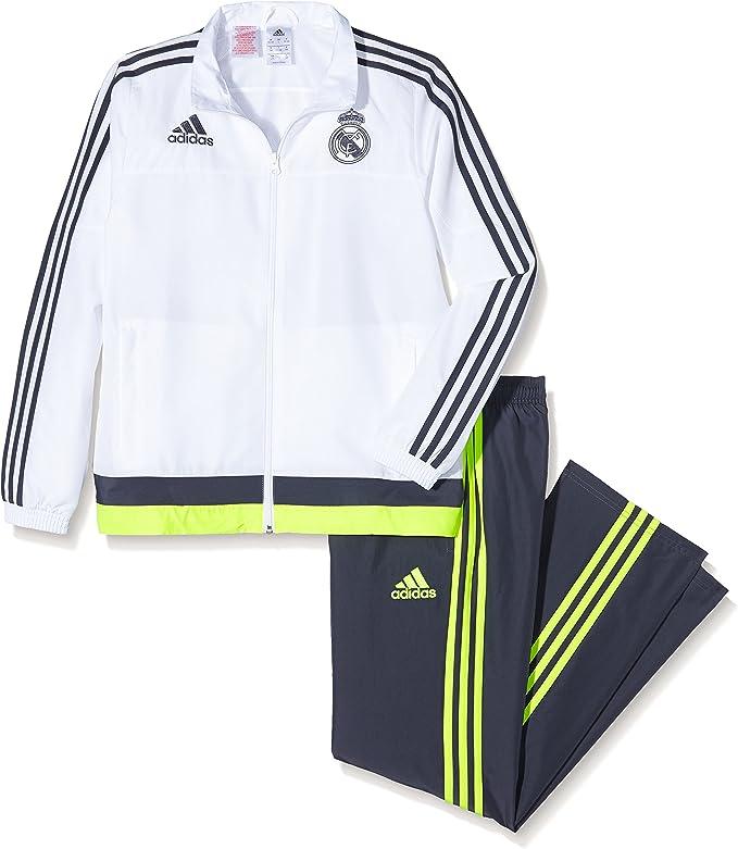 adidas Real PR Suit Y - Chándal para niño, Color Blanco/Gris/Lima ...