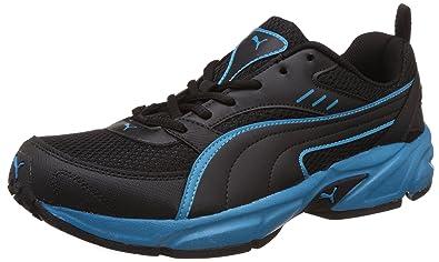 21a71b3acfd Puma Men s Atom Fashion III Dp Puma Black and Atomic Blue Running Shoes - 9  UK