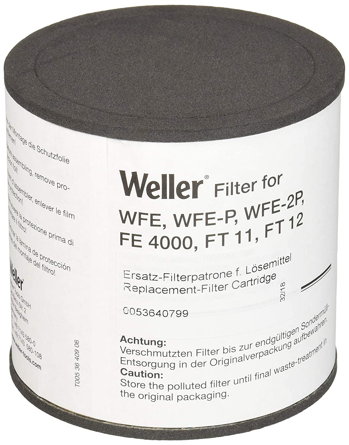 Weller T0053640799 Comp.Filter Aktivk. Wfe/Wfep/Ft11/Fe4000, Black Apex Tool Group